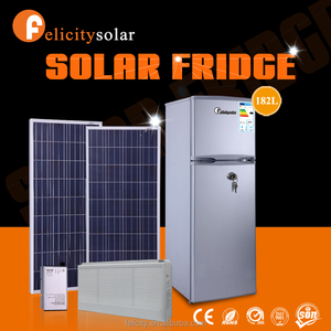New design saving energy 182L solar compressor commercial refrigerator