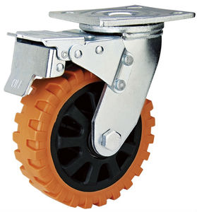 Heavy duty orange caster wheel