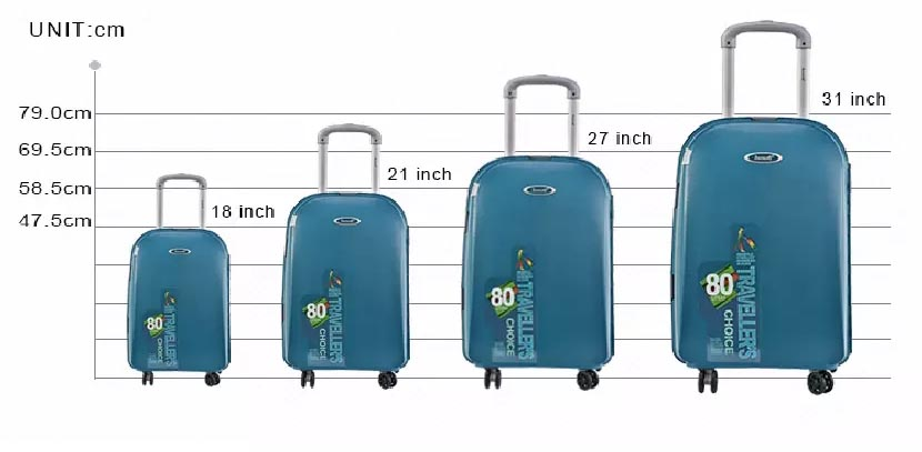 "BUBULE 18"" 21"" 27"" 31"" PP Travel Luggage Cheap 4 Wheels Trolley Bag"