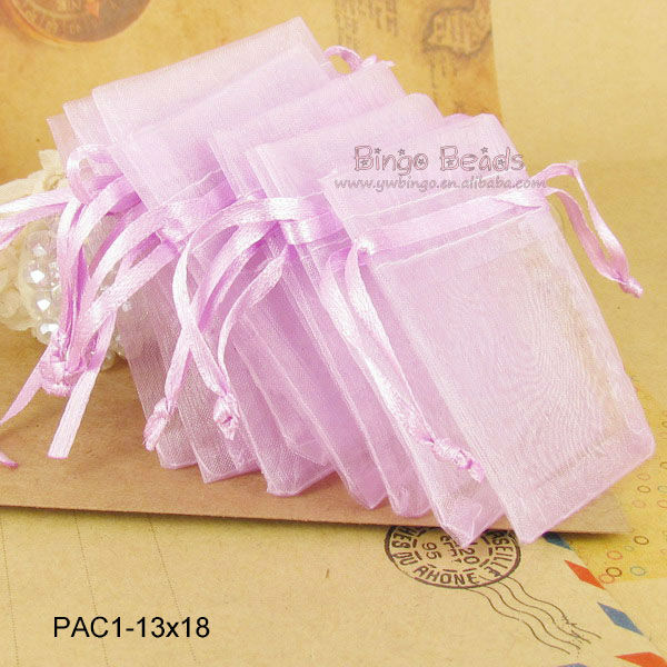 3.6'' x 4.8'' Silver Organza Bags with Drawstrings Small Organza bag Mini Wedding Favor Jewelry Candy Bag