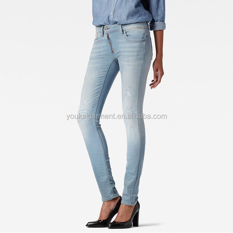manufacturer ladies clothes top design high quality vintage jeans casual skinny denim pants for women