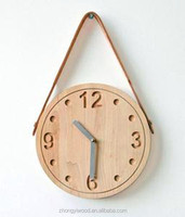 kids natural promotion cheap handmade DIY wholesale china manufacture decorative children's fancy wooden wall clocks