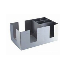 stainless steel napkin bar caddy