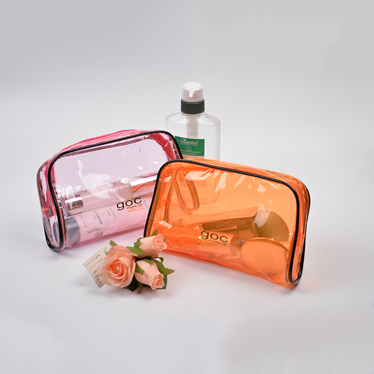 Best quality W23*H14*D6cm eco beauty PVC clear cosmetic bag