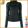 New Arrival leather motorcycle racing jackets, womens plain black jacket