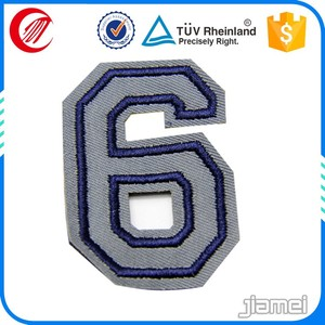 Custom sew on personalized embroidered numbers for jerseys
