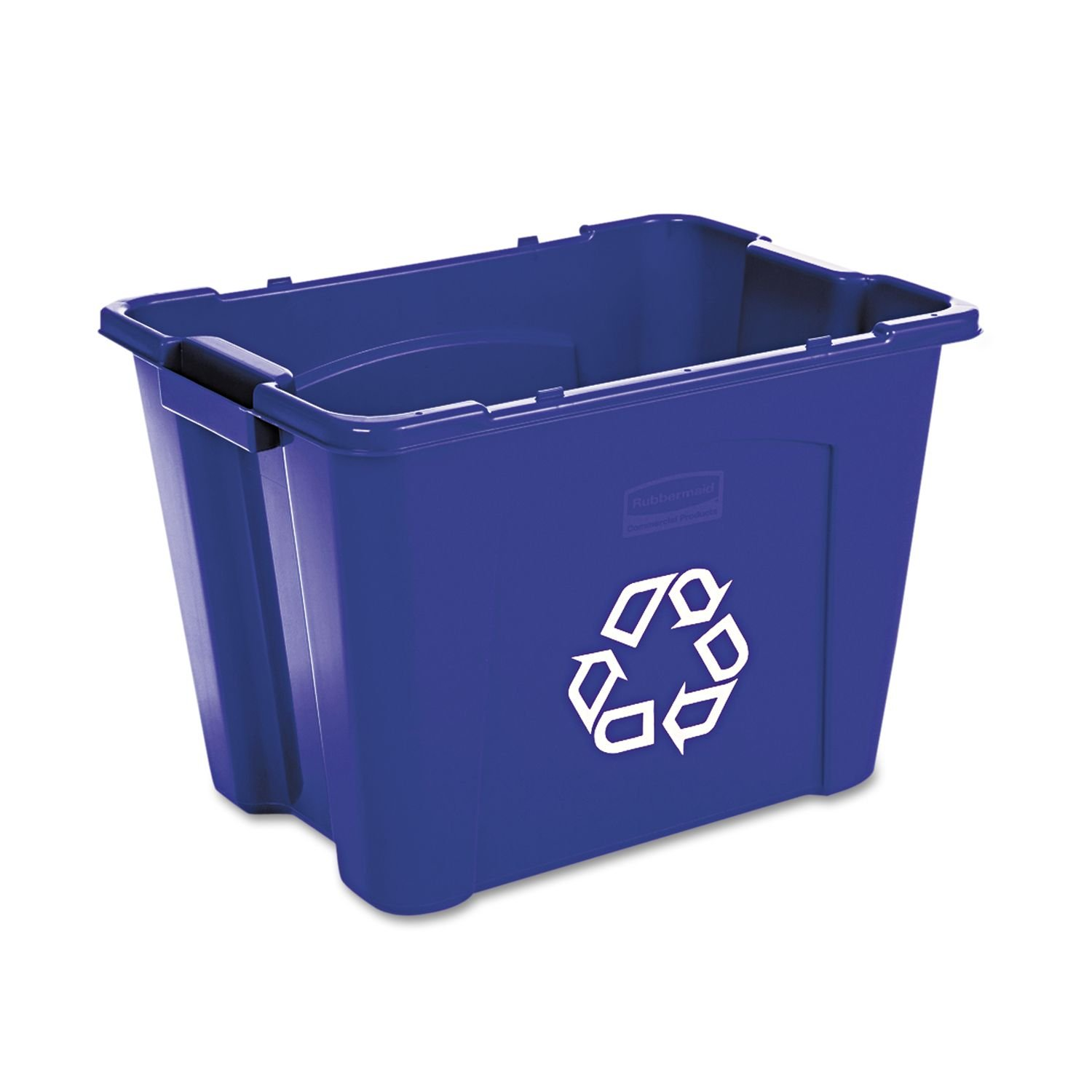 Blue Recycle Bins, Stackable - 14 gallons, Trash, Organizer, Garbage, Waste