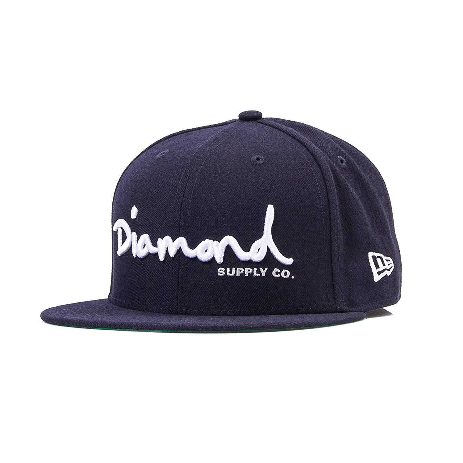 f06bf0c62d0 Get Quotations · Diamond Supply Co OG Script Navy Blue Fitted Hat - 7