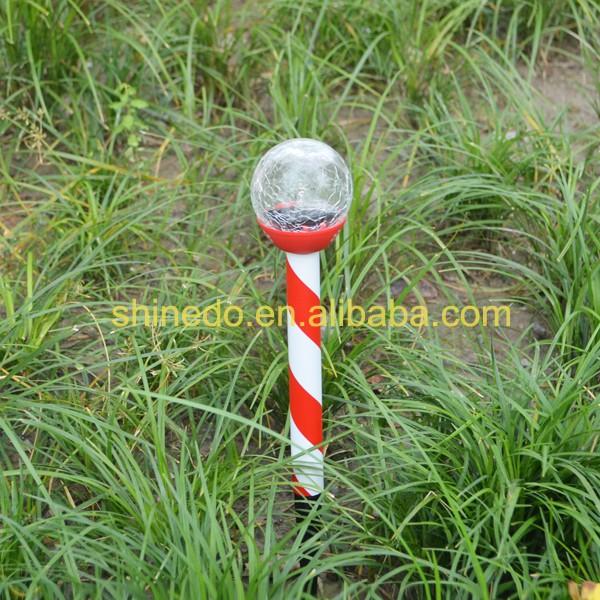 Mini Decorative Crackle Glass Ball Solar Garden Stick