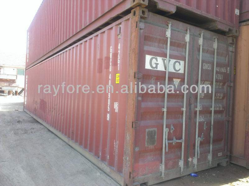 Shanghai used 40ft cargo container cheap selling