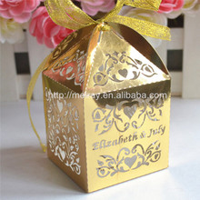 Gifts and crafts laser cut sweet love gift favor box christmas best selling party decoration