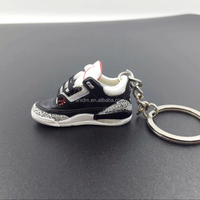 On sales mini 3D Kobe Bryant Sneaker Keychain/hot Kobe Bryant plastic shoes keychain/oem design Kobe plastic shoe keychain maker