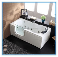Corner installation type and soaking function walk in bathtub with glass door