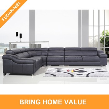 Best selling new design top grain leather 7 seater l corner sofa set for  living room, View l corner sofa, FUDAN-NISI Product Details from Foshan ...