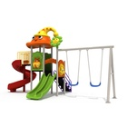 Outdoor Amusement Facility System Animal Funny Playground Swing Set Commercial Site Furnishings