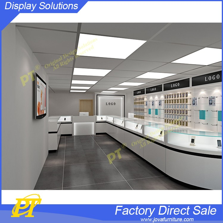 Cellphone Store Interior Design Mobile Phone Display Fixture Shop Furniture