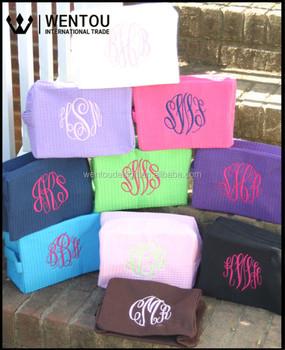 da0927f8eb Wholesale Monogrammed Cosmetic Bags Waffle Weave - Buy ...
