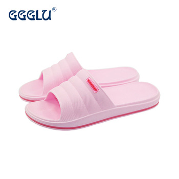 2017 Custom Logo Indoor Bathroom Slide Sandal For Women