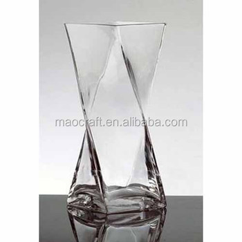 Glass Square Twisted Vases Buy Twisted Glass Vasesclear Glass