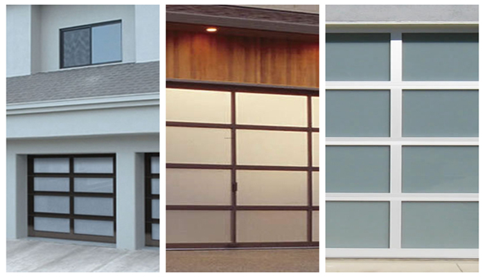 Triple Layers Solid Wood Garage Door With Glass Buy High