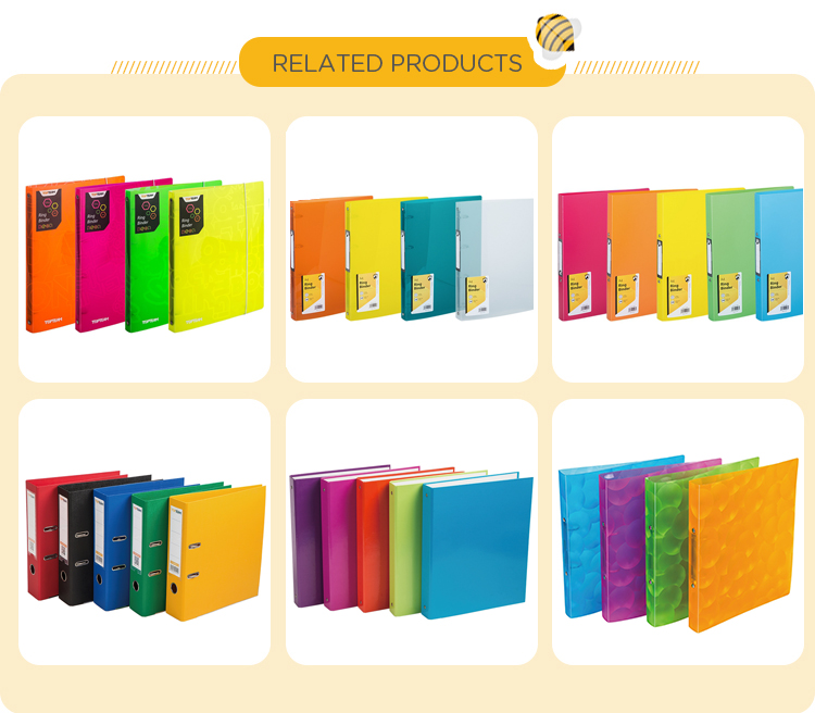 TOPTEAM school office pp file box ring binder