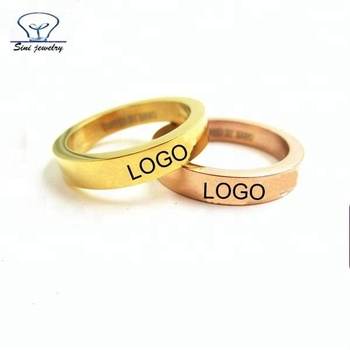 2019 New Product Fashion Cheap Plain Stainless Steel 18k Gold Custom