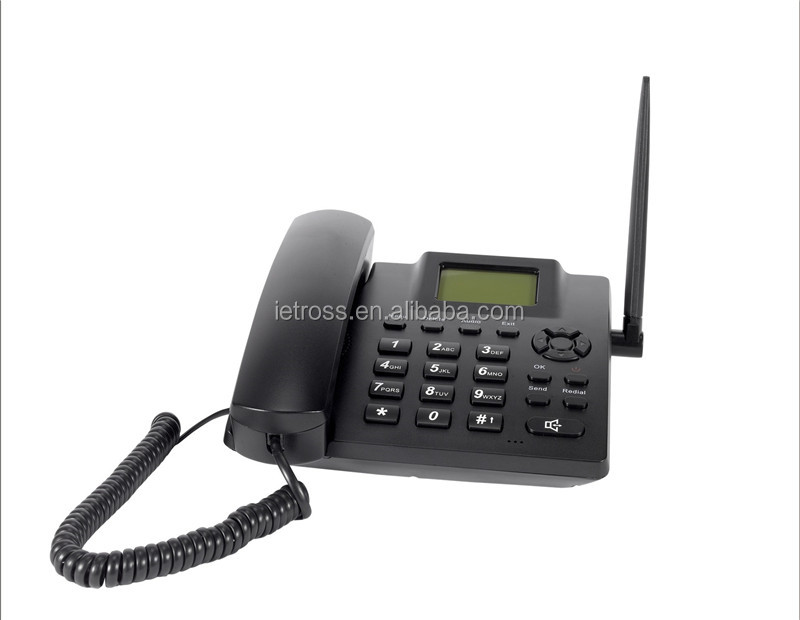 Desktop wireless home fixed telephone with sim cards