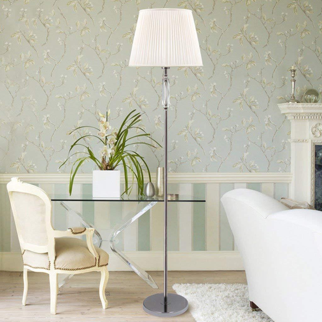 SX-ZZJ @Floor Lamps Floor Lamp Living Room Bedroom Modern Intelligent Remote Control Crystal Floor Lamp White Lamps (Color : Foot Switch)