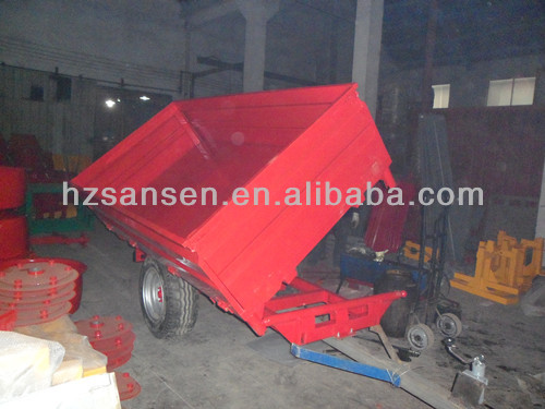 agriculture machinery farm tipping trailer three way tipper high dump trailer