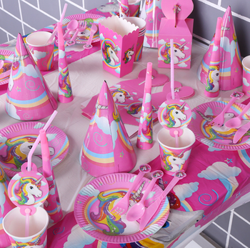 Unicorn Theme Party Rainbow Majesty Unicorn Birthday Party Supplies