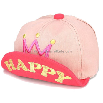 d2b642d70c2 Baby infant boys monkey flat bill sun baseball hat summer hip-hop cap