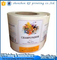 customized blank label roll waterproof vinyl sticker paper
