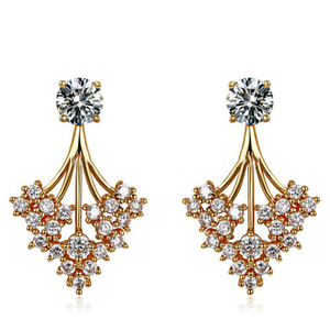 Neoglory Zircon Gold Plated Drop Earrings For Women Birthday Christmas Gifts 2015 Trendy New Jewelry Party