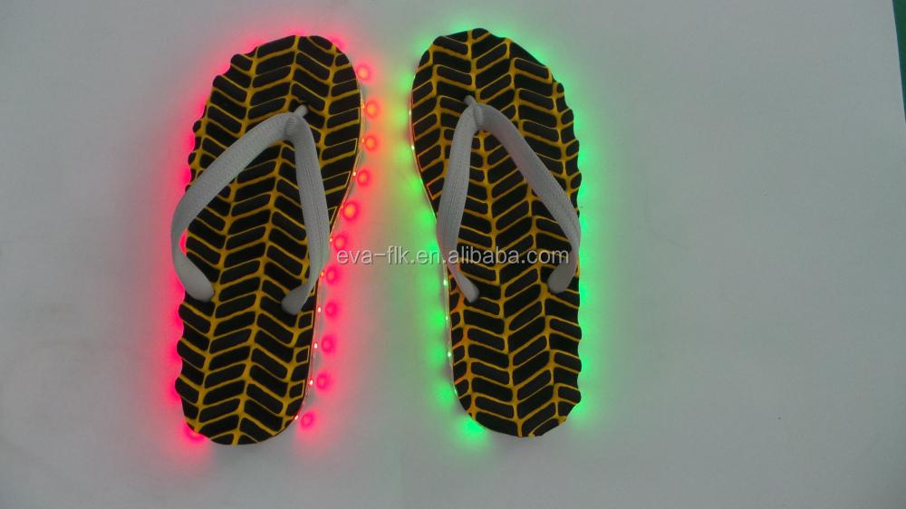 b801da9b81e16 2018 New Fashion Men And Women Light Up Flip Flops - Buy Light Up ...