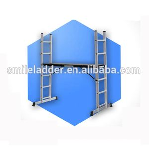 Platform ladder ML-1106 aluminium scaffolding step ladder/ industrial ladder