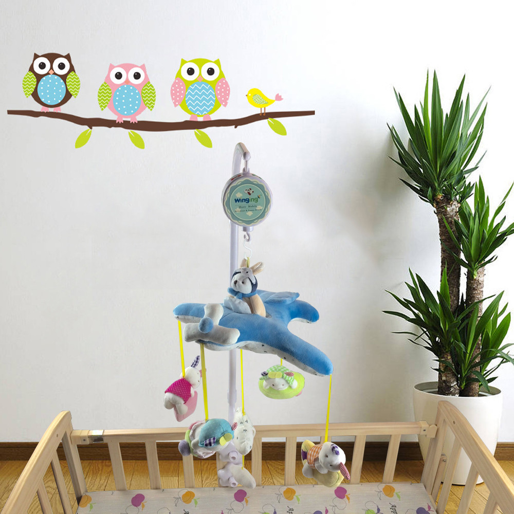 Mobile for baby crib -  Battery Operated Plush Baby Crib Hanging Mobile Toy Baby Musical Mobile