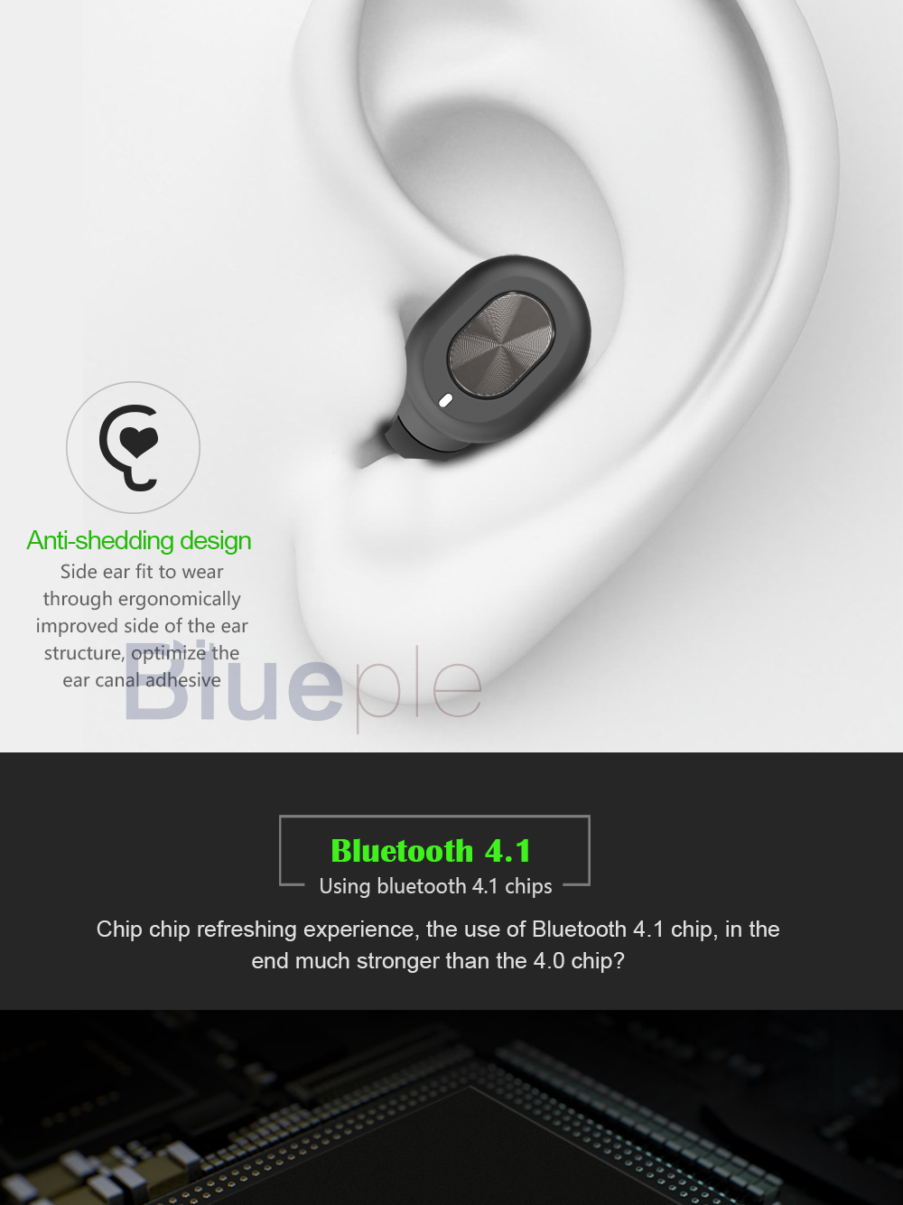Brand new mini micro true sport wireless wireless 4.1 earphones monocordless earbuds Q702 with microphone