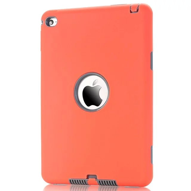 shockproof heavy duty rubber hard case cover for apple ipad mini 4