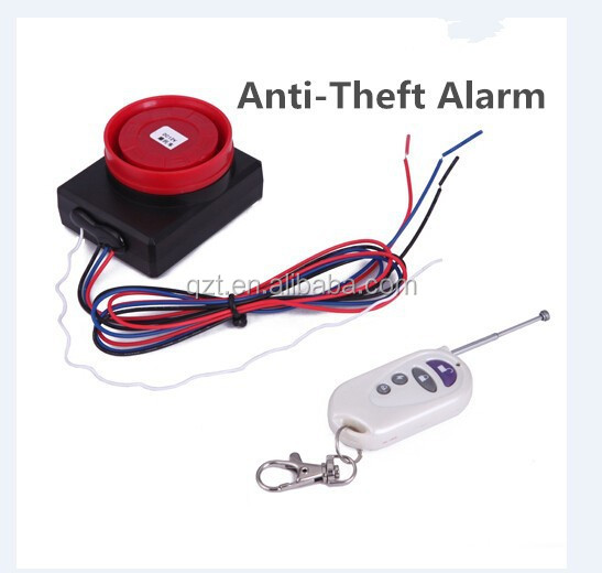 Sensitive Anti-Theft System Remote Control Vibration motorcycle alarm