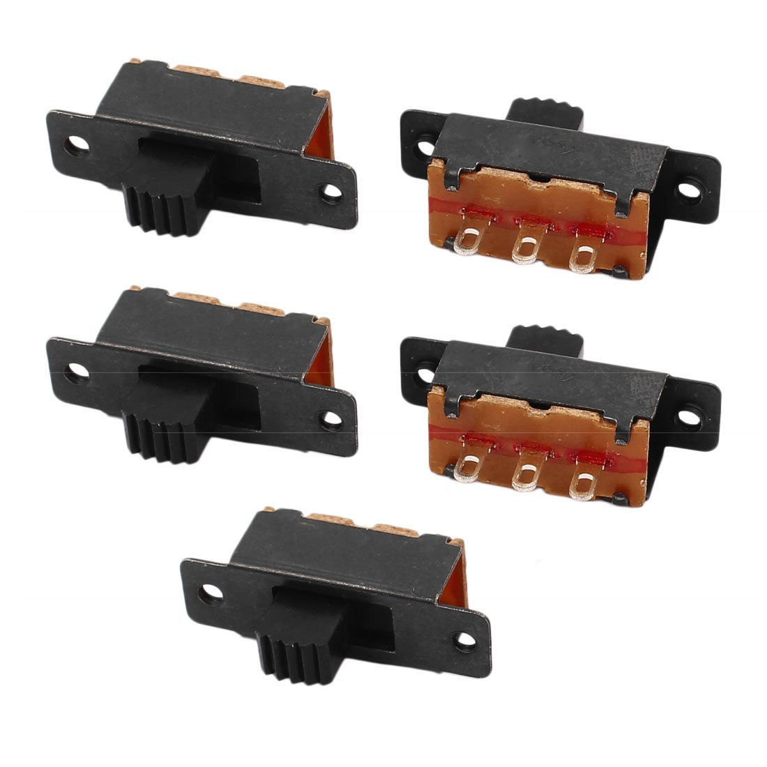 uxcell 5 Pcs 2 Position 3P SPDT Micro Miniature PCB Slide Switch Latching Toggle Switch