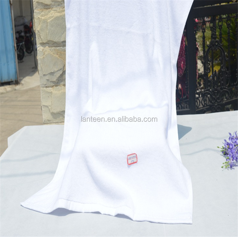 100%cotton material luxury terry cloth white bath towel