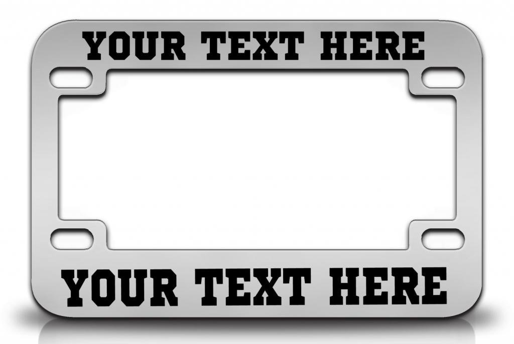 Buy CUSTOM PERSONALIZED Steel Black MOTORCYCLE License Plate Frame w ...