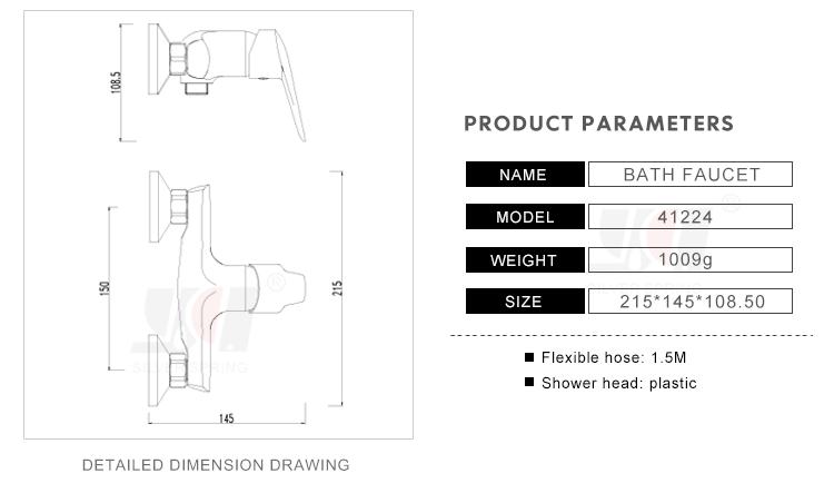 Vasca Da Bagno Montaggio : Design perfetto montaggio a parete europeo miscelatore doccia