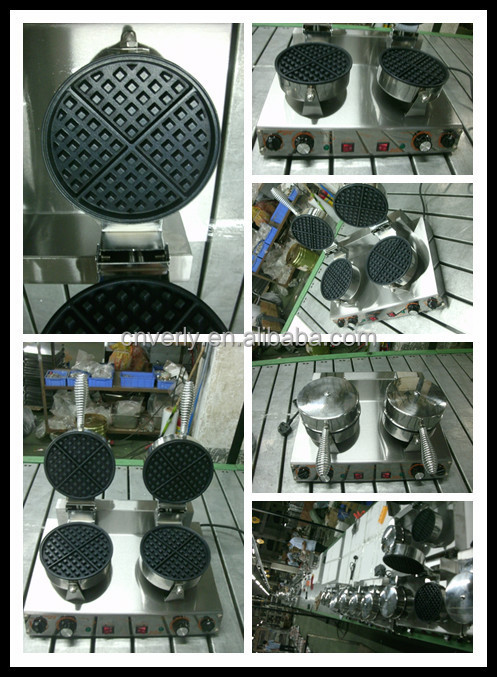 Stainless steel 2 heads wffle baker HF-02