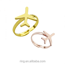 High quality color ring Airplane Rose Gold Rings For Women Accessories Jewelry