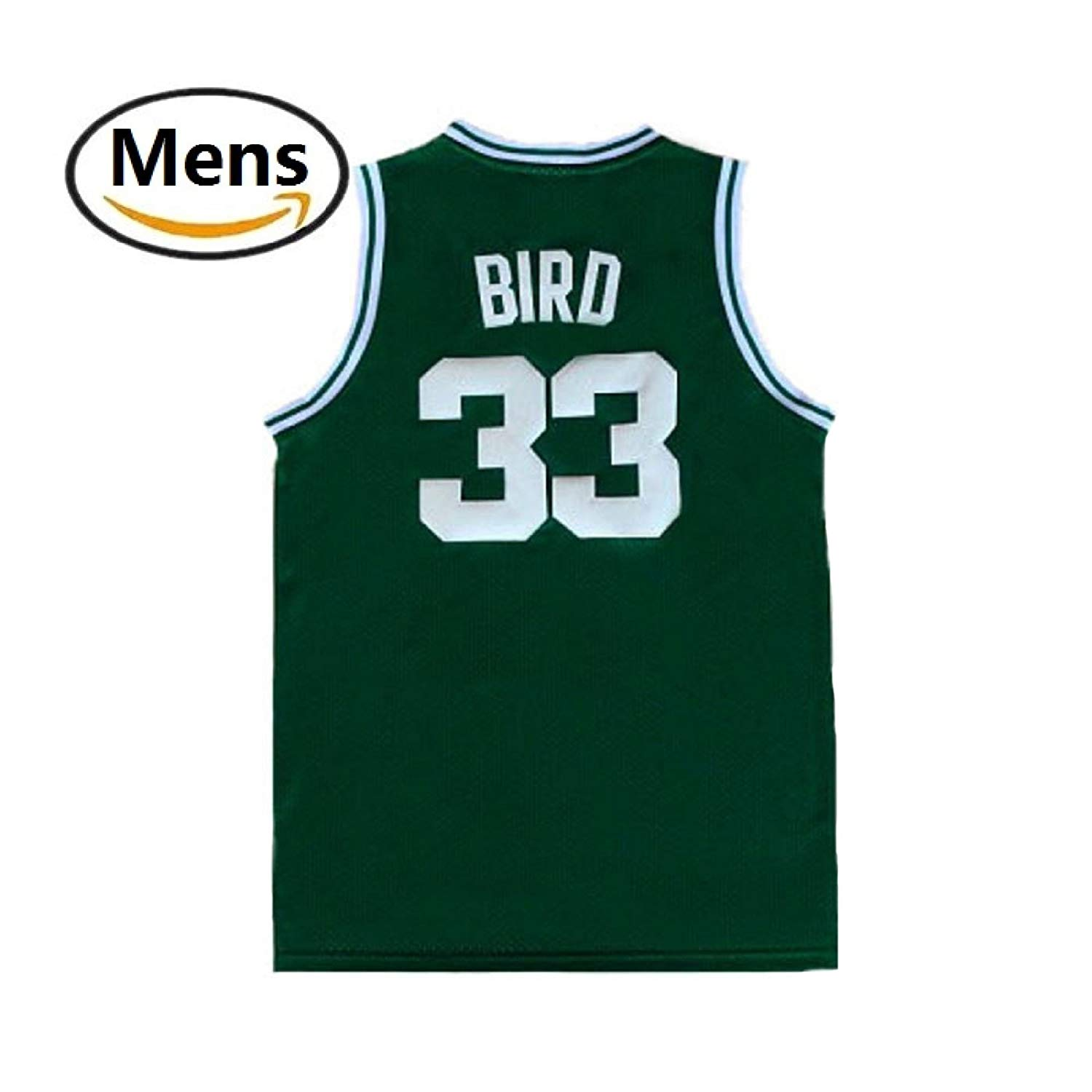 9d7e8710011 Get Quotations · maodege Men s Larry Jerseys Boston 33 Basketball Jersey  Bird Jerseys Green