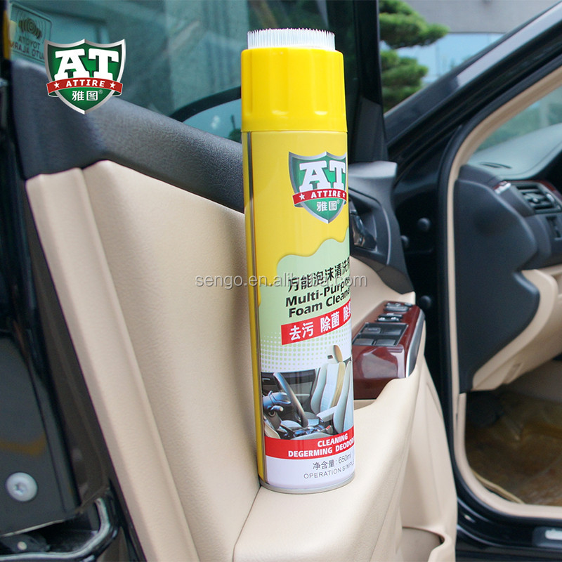650ml car care cleaning multi-purpose foam cleaner with brush