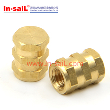 Ultra-mold m3 brass knurled inserts for plastic toys