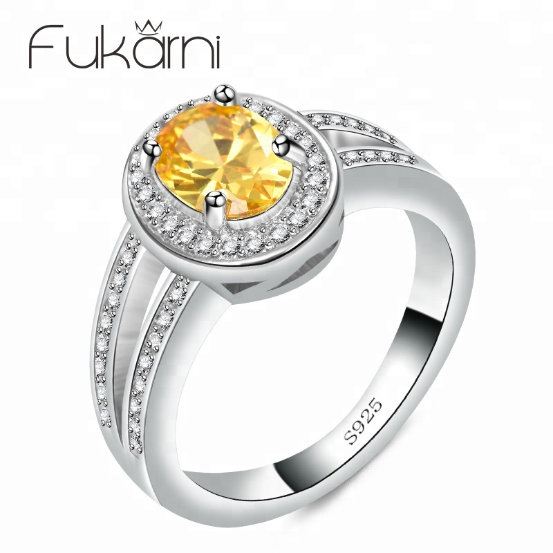 CKR055 Fukarni Simple Beautiful design ring fake diamond western wedding ring set with low price super quality