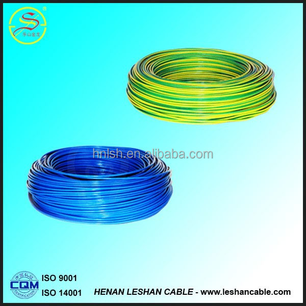 2015hot selling qualityfire <strong>resistance</strong> 4 mm electrical wire low voltage 400/750v pvc insulation copper conductor electric wire